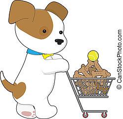 Cute Puppy Shopping