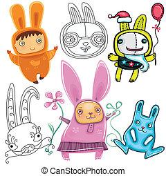Cute Rabbits.