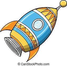 Cute Rocket Vector Illustration