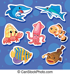 cute sea animal stickers 02