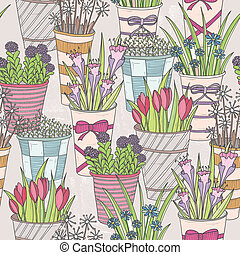 Cute seamless floral pattern