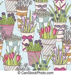 Cute seamless floral pattern.
