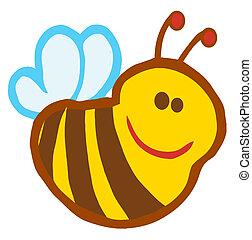 Cute Smiling Bee