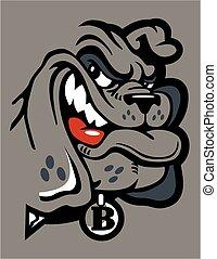 smirking bulldog