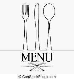Cutlery black silhouette