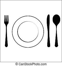 Cutlery black
