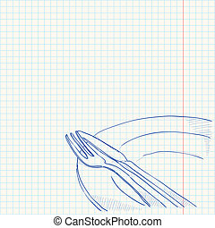 Cutlery Drawing