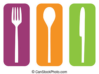Cutlery isolated
