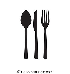 Cutlery knife, fork and spoon
