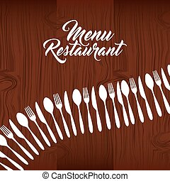 cutlery set restaurant menu