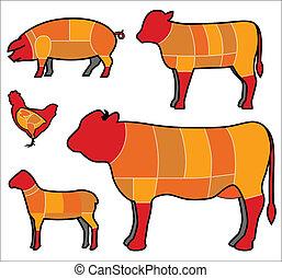 cutting meat set