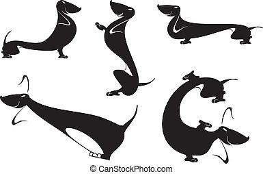 dachshund silhouettes