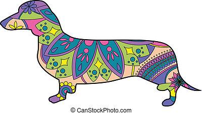 vector illustration of dachshund