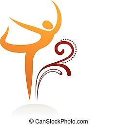 Minimalistic dancing silhouette