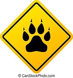 Danger animals vector sign