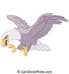 dangerous flying eagle is hunting