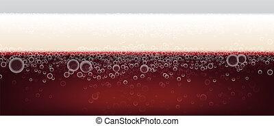 dark beer background with foam