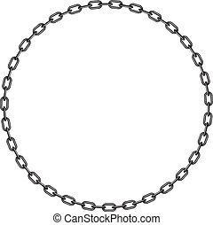 Dark chain in shape of circle on white background