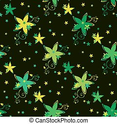 dark floral seamless pattern