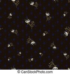 dark floral seamless vector pattern