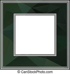 dark green border