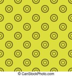 Dark green circles pattern on light green seamless background.