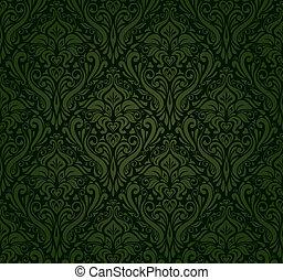 dark green vintage wallpaper