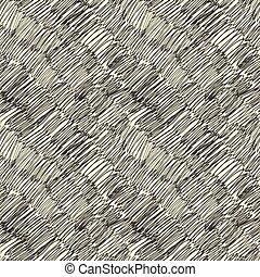 Dark scribble seamless pattern. Vector