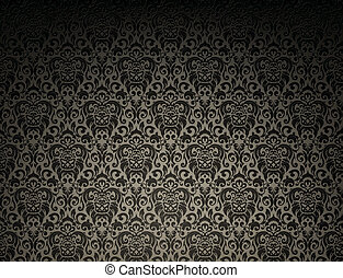 Dark seamless pattern