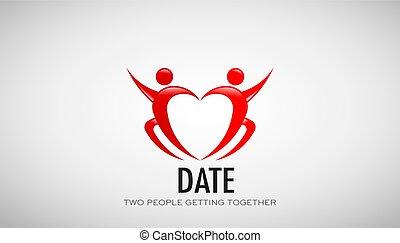 Date Couple in Love. Vector Design Illustration