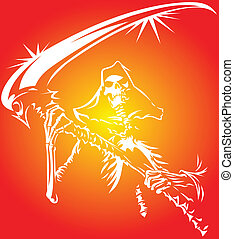 death symbol from my dream in white and orange colors