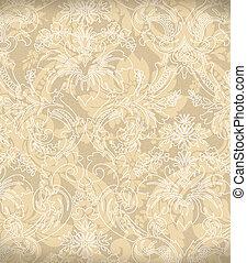 Decorative light beige renaissance background