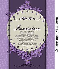 Decoretive invitation card