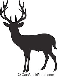 Deer vector isolated on white background