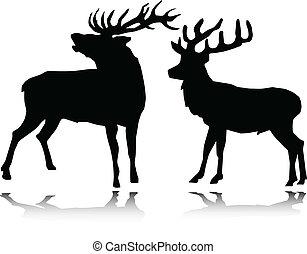 deer vector silhouettes