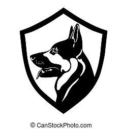 dog, police dog, shepherd