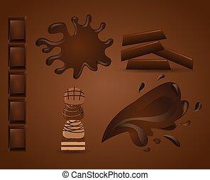 delicious chocolate design, vector illustration eps10 graphic