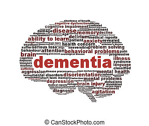 Dementia symbol conceptual design isolated on white background. Mental Health symbol