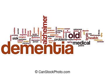 Dementia word cloud concept