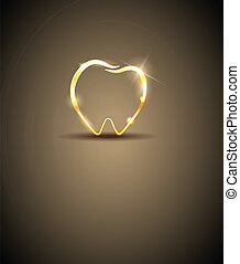 Beautiful tooth illustration Luxury dental care