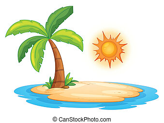 Illustration of a desert island