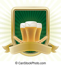 beer design element, abstract backgrounds