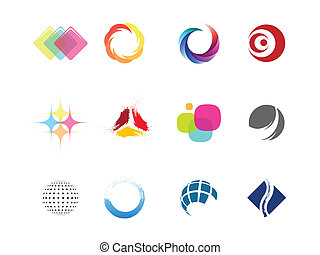 Design elements for creating logos