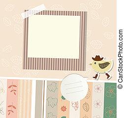 Design elements for scrapbook