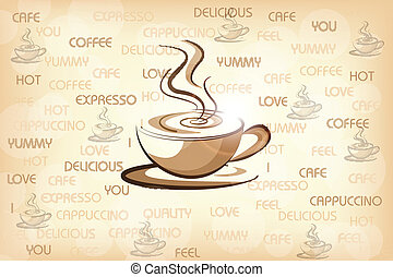 easy to edit vector illustration of ot coffee for cafeteria menu design