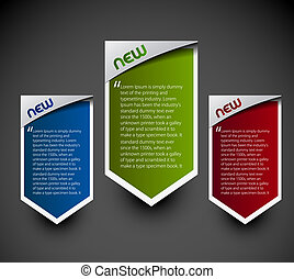 Design of advertisement labels stickers. transparent shadow easy replace background and edit colors.