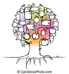 Design of family tree, insert your photos into frames