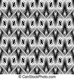 Design seamless monochrome geometric pattern. Abstract lattice background. Vector art. No gradient