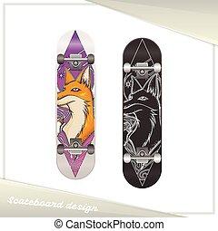 Design Skateboard Fox