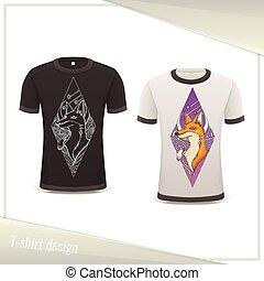Design Tshirt Fox